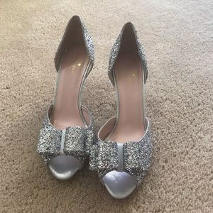 Kate spade silver glitter shoes!